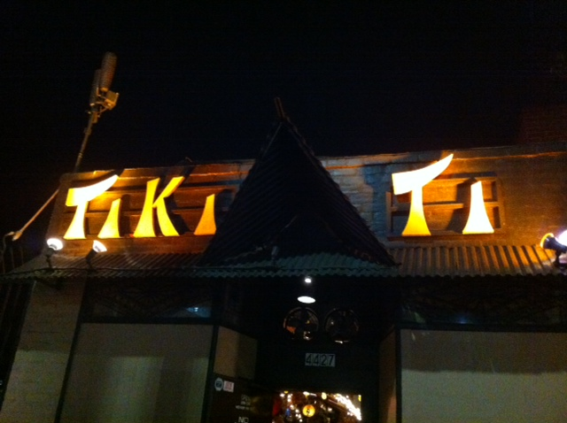 Outside of Tiki Ti, where the drinks are strong.